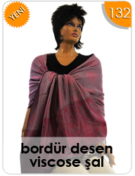 Bordür Desen Viscose Şal