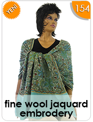 Fine Wool Jaquard Embrodery