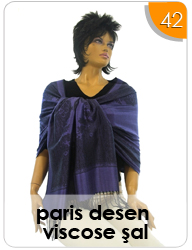 Paris Desen Viscose Şal